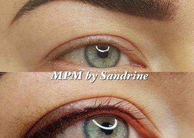 Sourcils et eye-liner poudré Montpellier